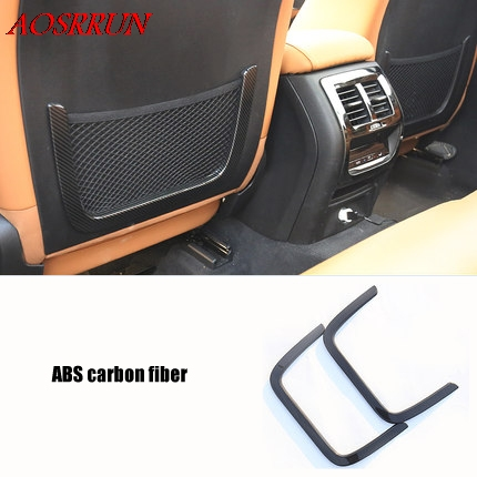 car styling ABS carbon fiber back of Seat decoration cover trim car accessories for 2017 2018 BMW X3 G01 2pcs/lot araba aksesuar accessories for chevrolet camaro 2016 2017 abs carbon fiber style the co pilot central control strip molding cover kit trim