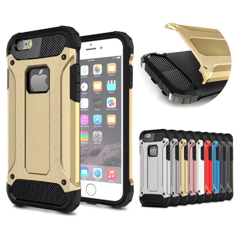 Shockproof Case For iPhone 6 6S 6 S 6Plus Phone Bag Case Silicone PC Capinha Coque For iPhone 6 6S 6 S Case Back Cover Shell