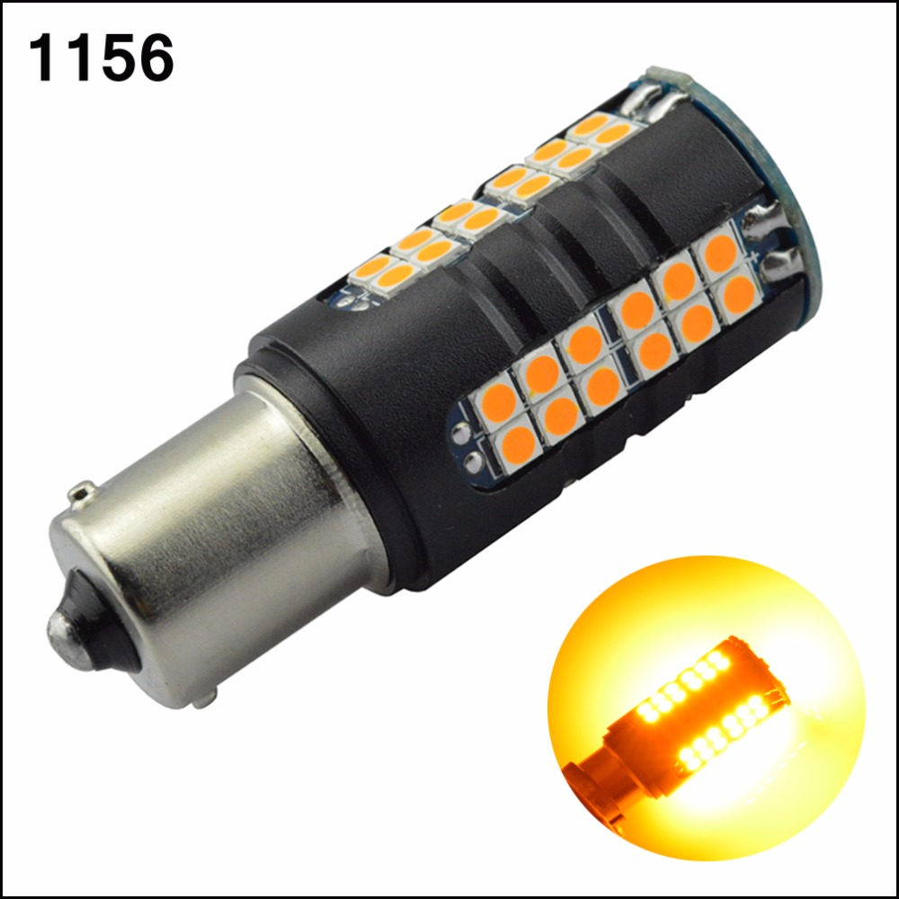 2pcs 1156 BA15S CANBUS Error Free Amber Yellow led bulbs Turn Reverse Rear Signal Light Lamp 3030 60smd 1500LM 12V 24V 2pcs canbus bau15s py21w error free 1156py amber yellow 36 led 5730smd 7507 bulbs indicator front rear turn signal light