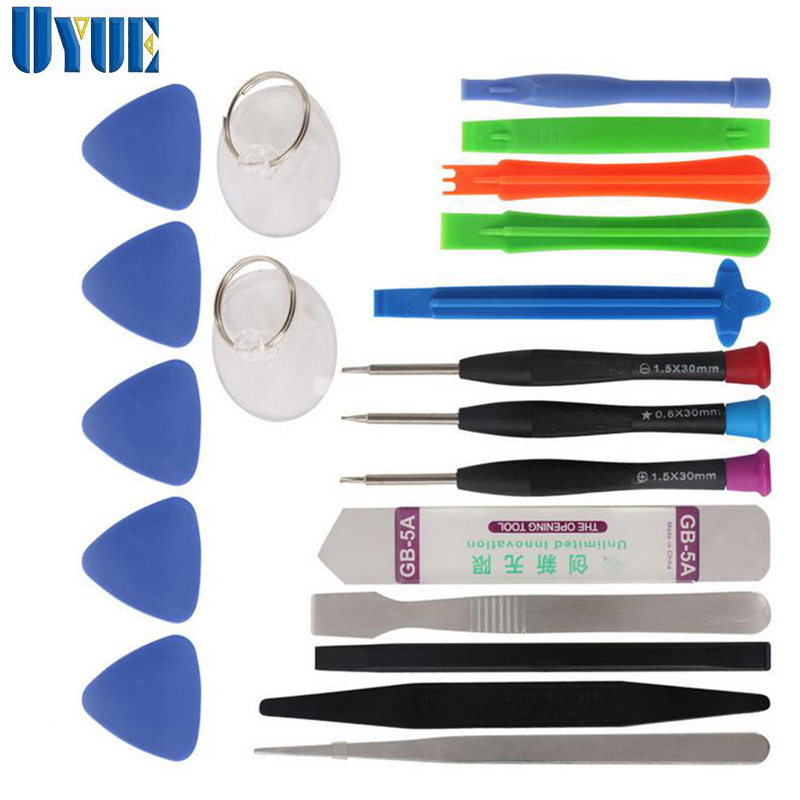 UYUE 20 in 1 Mobile Phone Repair Tools Screwdriver Set for iPhone iPad Samsung Cell Phone Hand ToolKit Spudger Pry Opening Tool