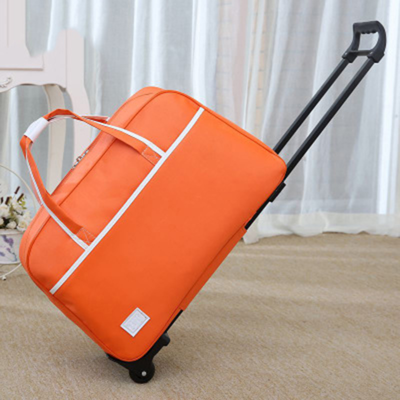 Handbag Luggage-Bag Suitcases Wheels Waterproof Women New With Thick-Style