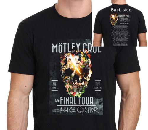 5117748ae498 MOTLEY CRUE The Final Tour Guest Alice Cooper 2016 t shirt Men 100% Cotton  casual tee USA size S-3XL