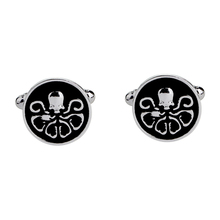 New Fashion Punk Skeleton Octopus Cufflinks Steampunk Octopus Cuff link Men Cufflinks High Quality rhinestone octopus shape cuff ring