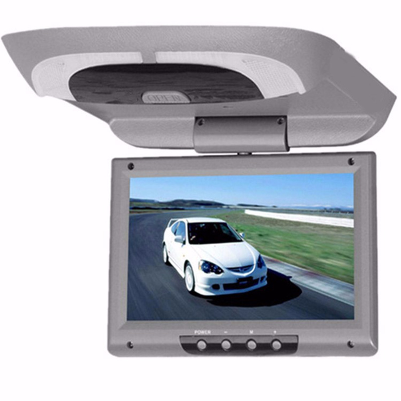 9 Inch Car Monitor Roof Mount Car LCD Color Monitor Flip Down DVD Screen Overhead Multimedia