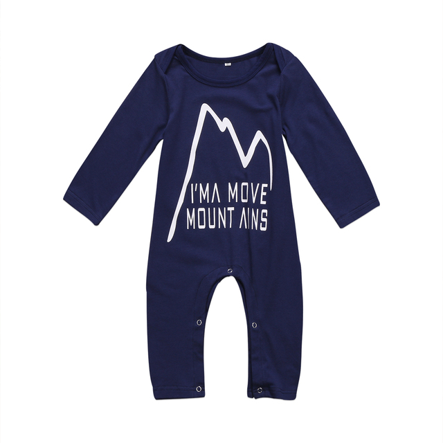 af13708f2e91 Pudcoco 0-24M Newborn Baby Boys Romper Navy Blue Jumpsuit Playsuit Mountain  Outfits Set Clothes 0-24M