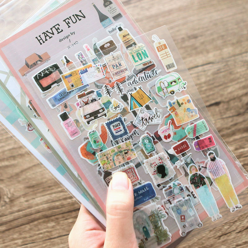 Literature Life Decorative Washi Stickers Scrapbooking Stick Label Diary Stationery Album Stickers