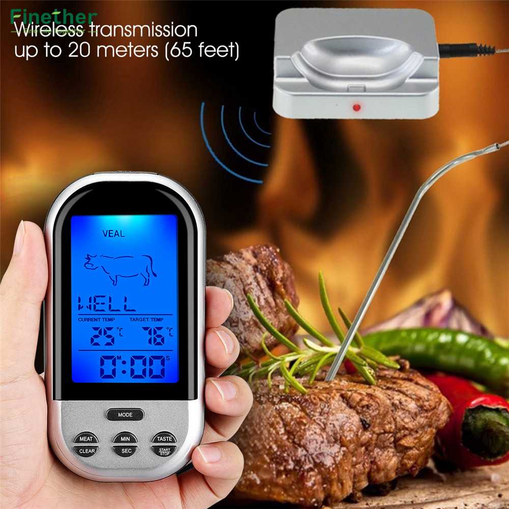 Wireless Food Cooking Thermometer LCD Barbecue Timer Digital Probe Meat Thermometer BBQ Temperature Gauge Kitchen Cooking Tools15