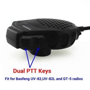 Image 2 - Baofeng Dual PTT Lautsprecher Mic Mikrofon Für Baofeng UV 82 Zwei Weg Radio UV 82L UV 8D UV 89 UV 82HP Walkie Talkie Zubehör