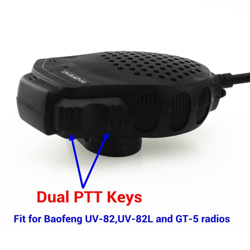 Image 2 - Baofeng Dual PTT Speaker Mic Microphone For Baofeng UV 82 Two Way Radio UV 82L UV 8D UV 89 UV 82HP Walkie Talkie Accessories-in Walkie Talkie from Cellphones & Telecommunications