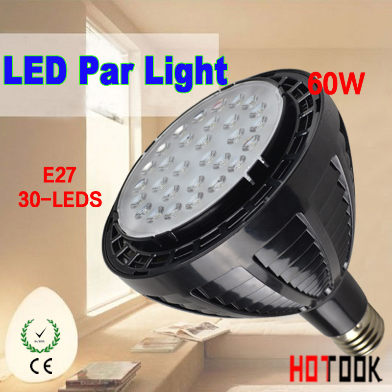 Hot SALE LED PAR38 60W LED Spotlight PAR 38 E27 Spot Light lamp Bulb with fan for heating sink 85~265V CE ROHS warranty 2 years 23 937537