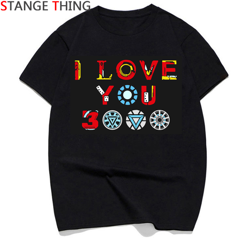 ALI shop ...  ... 33015832083 ... 2 ... I Love You 3000 Thanks Tony Iron Man T Shirts Men/women Tony Stark Superhero T-shirt Fashion Tshirt Couple Top Tees Male/female ...