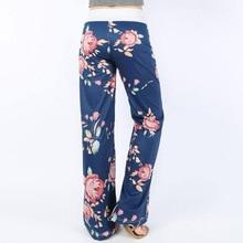 Causal Flower Print Pants