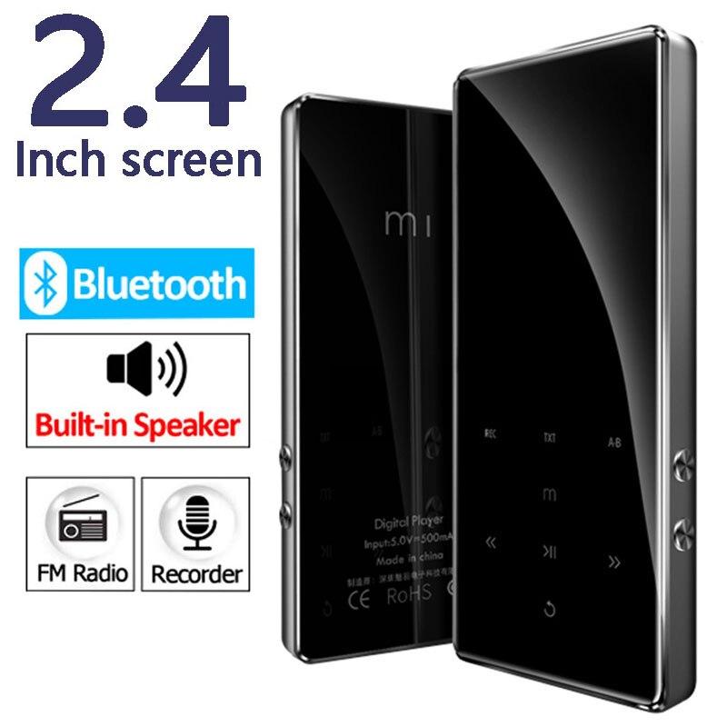 Unterhaltungselektronik Hifi-player 2,4 Zoll Bildschirm Bluetooth 4,2 Metall Hifi Mp3 Player Verlustfreie Musik Mini Mp3 Tragbare Audio-player Fm Radio E-buch Video Hell Und Durchscheinend Im Aussehen