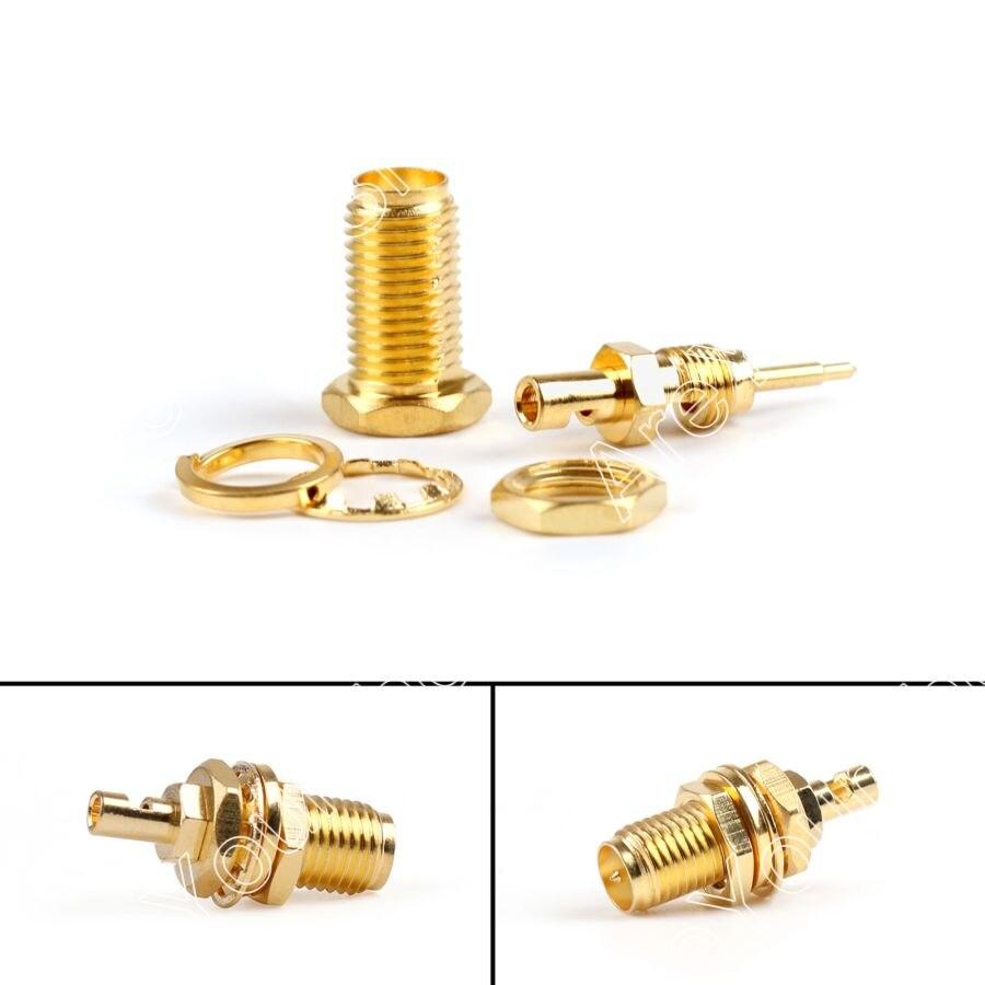 Areyourshop 10Pcs RP-SMA Jack Female Bulkhead Solder Terminals For 1.37mm RG178 Cable RF Fission imc hot sma female center nut bulkhead