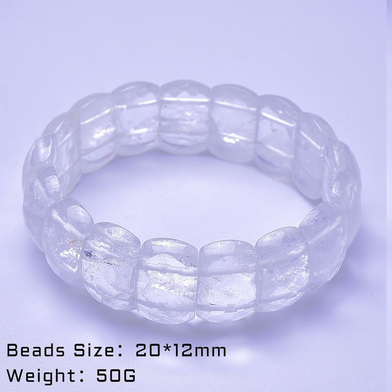 XJ Natural White crystals Stone Bracelet Jewelry Handmade Natural Stone Beads Bracelet Man 39 s Bracelets Creative Gifts in Strand Bracelets from Jewelry amp Accessories
