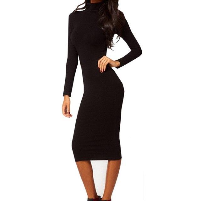Donne di estate vestito Misto Cotone della ragazza vestito lungo Sottile  Sexy nero Hip Stretch Manica 446b85804db