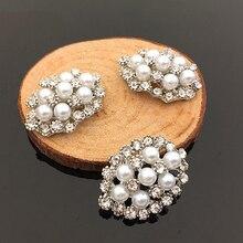 2016New 50Pcs Vintage Arco di Perle Strass Bottoni per i vestiti pulsante o FAI DA TE Accessori Per Capelli HZ222