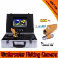 30Meters Depth Underwater Fishing Camera Kit with Single Lead Bar Camera & 7Inch Color TFT Display Monitor & Aluminum Case