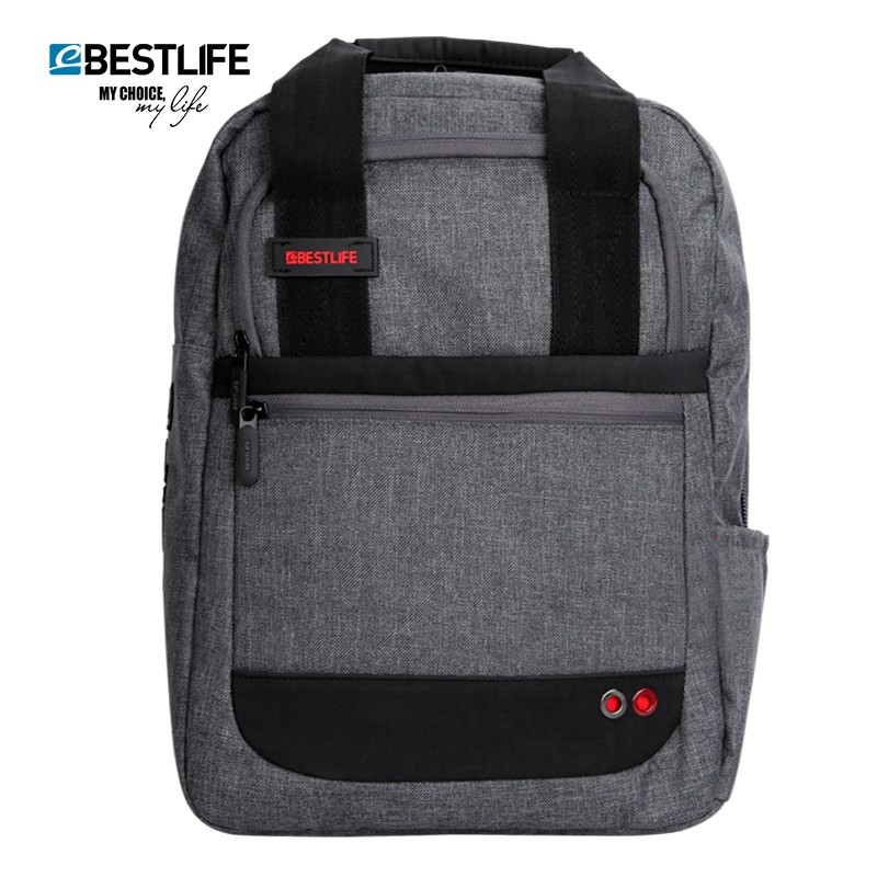 все цены на BESTLIFE Casual Laptop Backpack Men Street Style Design Grey College Student Travel Bag 15.6 Inches Computer Compartment