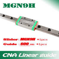 9mm Linear Guide MGN9 L= 600mm linear rail way + MGN9H Long linear carriage for CNC X Y Z Axis Free shipping