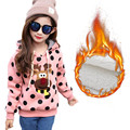 Children's Sweatshirts For Girls New Winter 2016 Fashion Cartoon Print Baby Girls Lovely Hoodies Casual Long Sleeve Kids Clothes