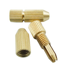 Mini Small 2.0mm Brass Electric Motor Shaft Clamp Fixture Chuck For 0.8mm-1.5mm Drill Micro Drill Bit Clamp Fixture Chuck