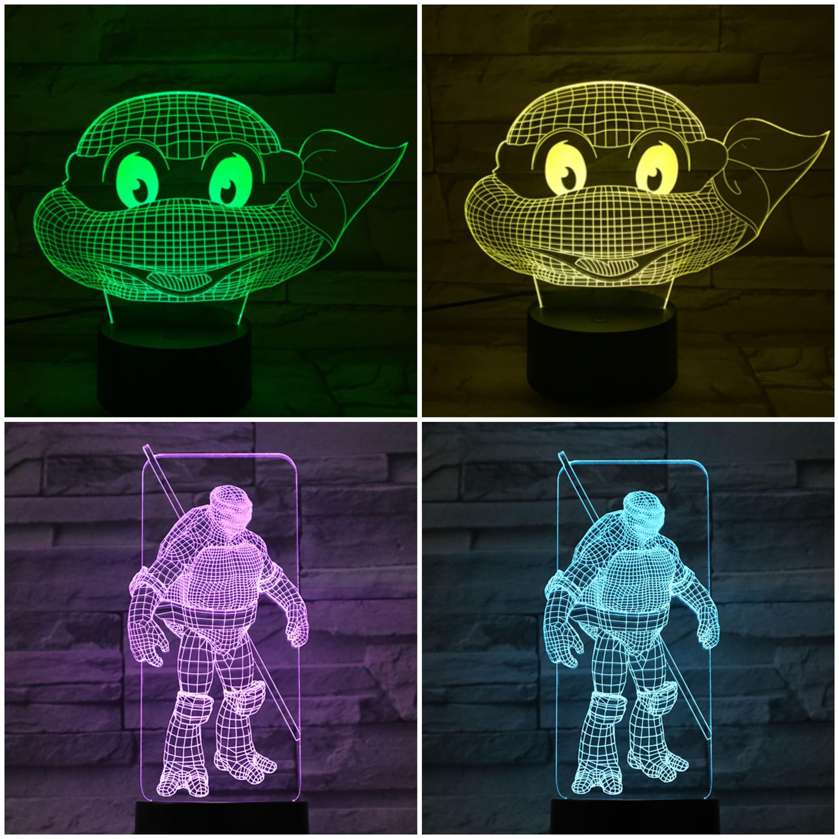 Ninja Turtles Slaapkamer.Kopen Goedkoop Cartoon Teenage Mutant Ninja Turtles Nachtlampje Led