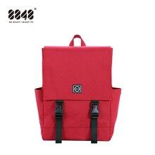 8848 Kadın Sıcak Tuval Sırt Çantaları Şeker Renkli Su Geçirmez Okul gençler için çanta Erkekler Büyük Kapasiteli Laptop Sırt Çantaları 092 060 008