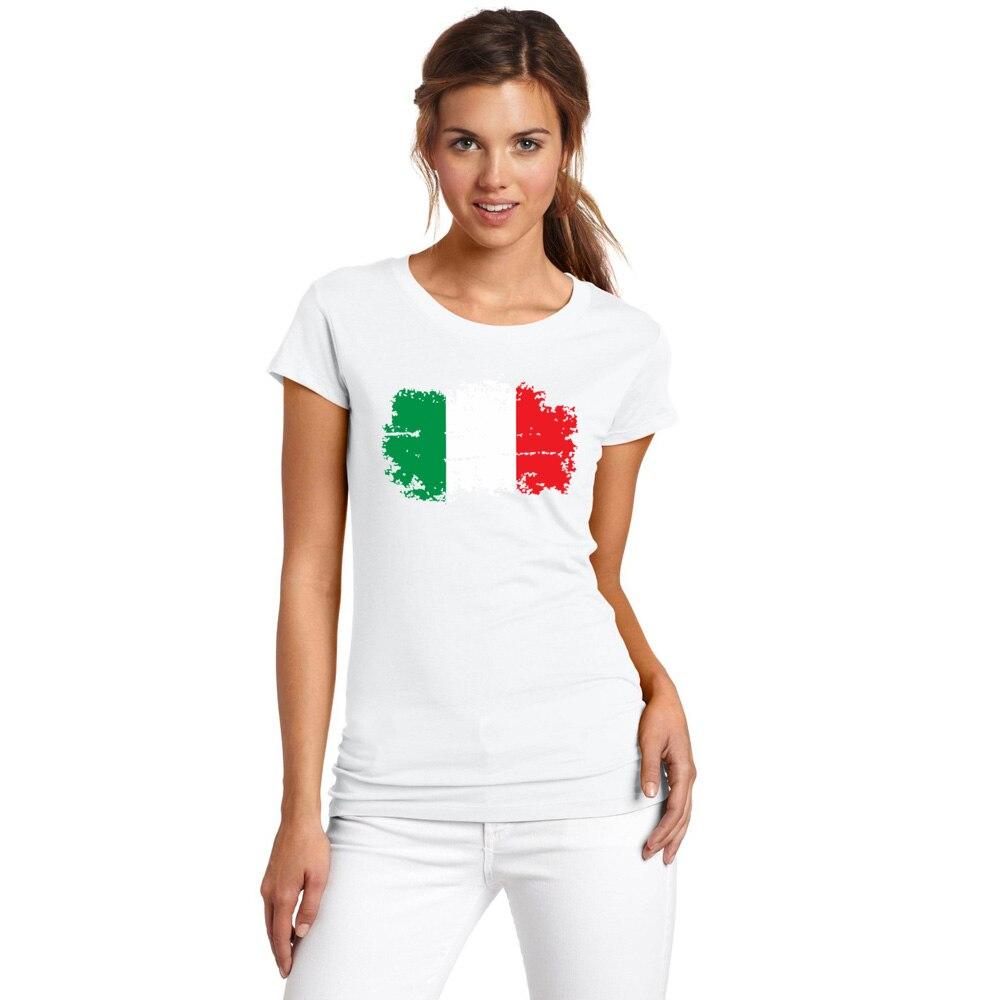Blwhsa Italia T Shirt Bendera Nasional Nostalgia Gaya Wanita Qampampq Resin Analog Jam Tangan Hitam Strap Karet Vq04j010y Shirts Top Cotton Kebugaran Fans Cheer Tees