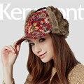 Kenmont Осень Зима Теплая Женщины Леди Девушка Earflap Открытый Искусственного Меха Шляпа Козырек Бейсболки Регулируемая 1486