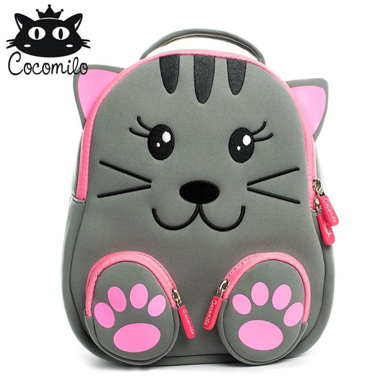 3D Kids Bag Backpack For Girls Boys Baby Small Bags Bear Lion Pattern Kindergarten Backpack Anti-lost School Bag Mochila Escolar