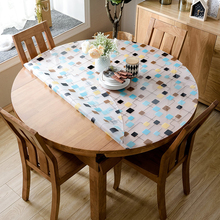 kitchen home soft glass transparent crystal waterproof Dining anti scald oil proof round PVC mat cover table cloth placemat