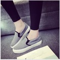 2017 spring summer canvas shoes female large base platform shoes female students shoes leisure loafers