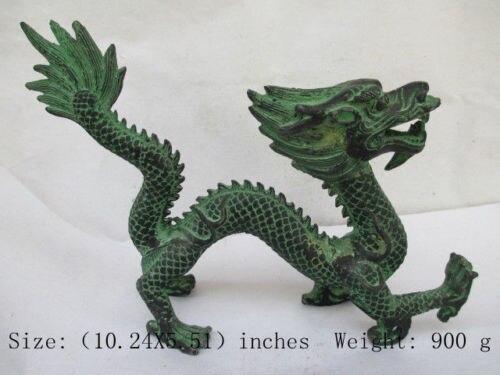 Collection antique dragon en bronze chinois. Dragon NR