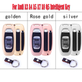 Auto Car Remote Key Cover Chain Holder Skin Case Shell for Audi A3 A4 A5 A7 A8 Q5 Intelligent Key Car Styling