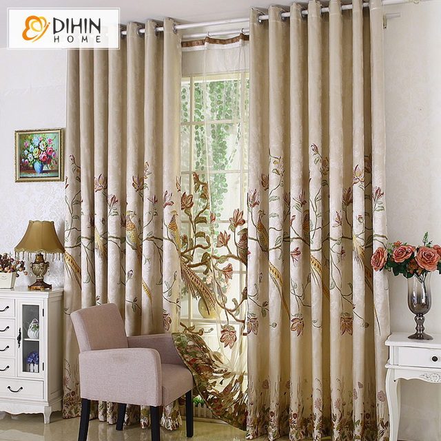 New Arrival Rustic Window Curtains For Living Room Bedroom Blackout Curtain Treatment Drapes