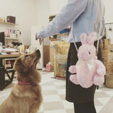 Kawai Rabbit Bunny Bag Lolita Soft Plush Toy Doll Single Shoulder Portable Pearl Chain Bag Birthday Gift Triver Drop Shipping