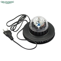 Voice Control Mini UFO LED Stage Light RGB 7 Colors Changing Rotating Magic Ball LED Laser