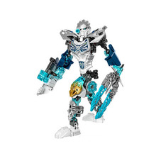 XSZ 611 - 4 biochemical bioniclemask warrior of the light kopaka ice building block compatible with Bionicle 71311 toys