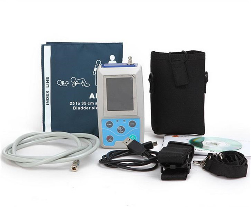 High quality with PC software Digital Blood Pressure Monitor & Heart Beat Meter with LCD display ABPM50 CE,FDA approved