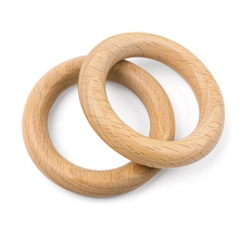 New Wooden Teether 70MM Baby Teething Ring Teether Nature Beech Wooden Teething