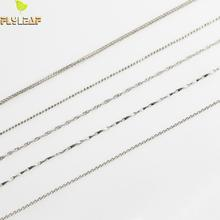 Flyleaf 925 Sterling Silver 10 Style Select Rose Gold Woven Chain Necklace Women Men Fashion Jewelry Accessories