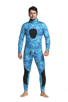 Bonverano Men S 3mm Camo Wetsuit Diving Suit Two Pieces Outside Lamilated Super Stretch Lycra In