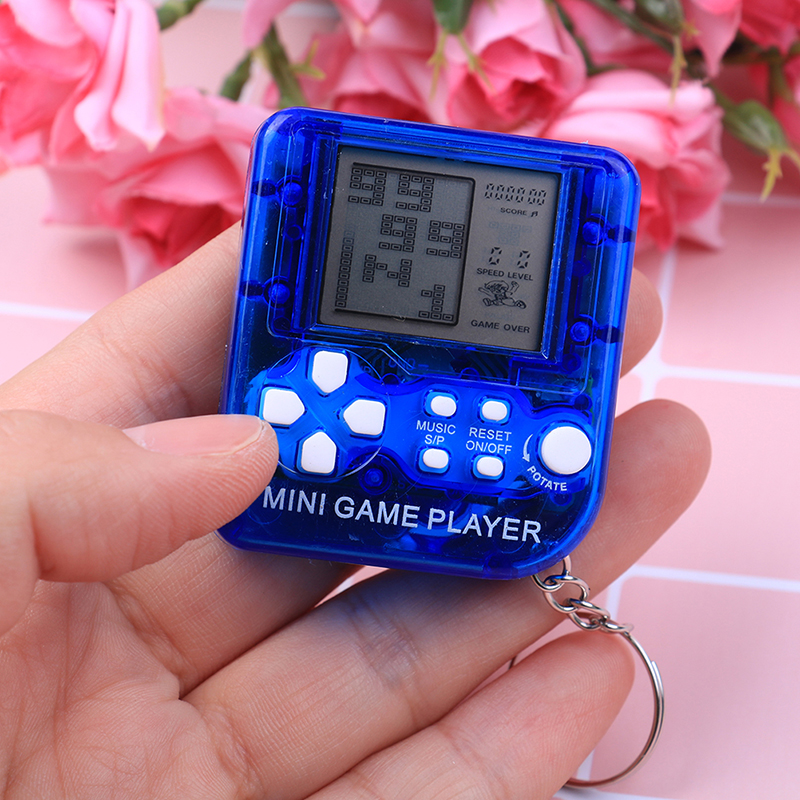 1pc Ultra-small Mini Tetris Children Handheld Game Console Portable LCD Players Children Toy Educational Electronic Toys Classic