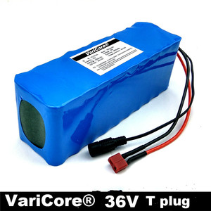 VariCore 36 v 6Ah 10S3P 18650 bateria, mudar a moto, veículo elétrico volt 42 PCB proteção da bateria de lítio + carregador 2A