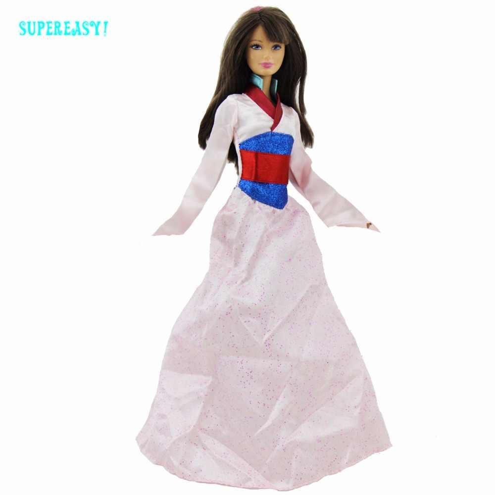 Сказочная принцесса Мулан платье свадебное Длинное нарядное платье халат национальная традиционная одежда для Барби Кукольный дом аксессуары