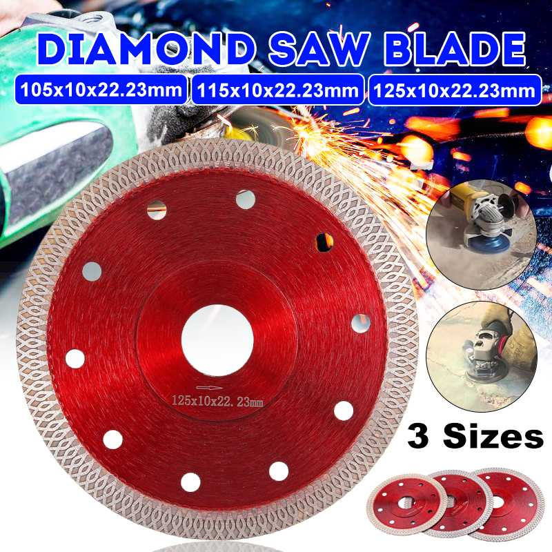 DOERSUPP 105/115/125mm Hot Pressed Sintered Mesh Turbo Diamond Saw Blade Cutting Disc Diamond Wheel For Porcelain Tile Ceramic