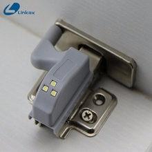 Universal guarda-roupa led sensor de luz cozinha quarto novidade iluminação noite luz interior dobradiça armário sob a luz do armário