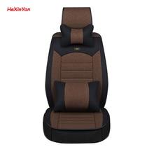 цена на HeXinYan Universal Flax Car Seat Covers for Peugeot all models 206 307 407 207 2008 208 308 406 301 3008 508 607 auto styling