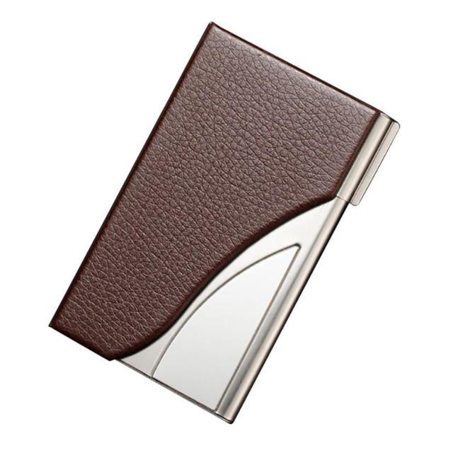 Xiniu Deri Paslanmaz Çelik Iş kartvizit kılıfı Tutucu Erkek Metal Yüksek QualitId kredi kart tutucu Otomatik kart setleri U #1 S